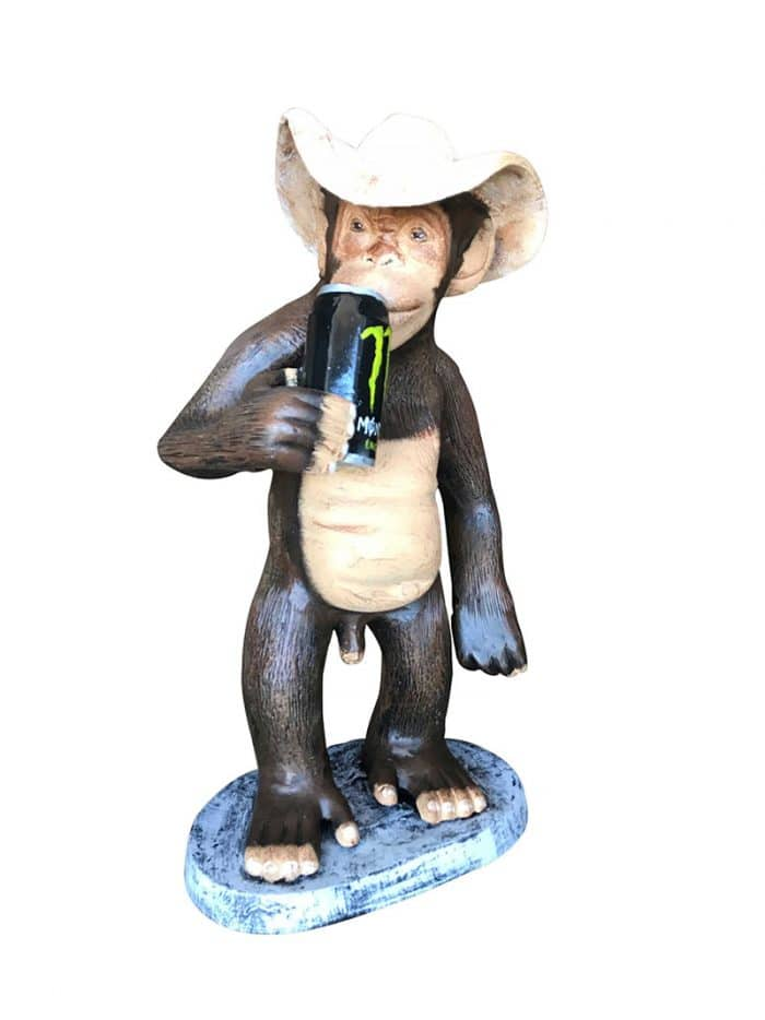 Monkey with can
